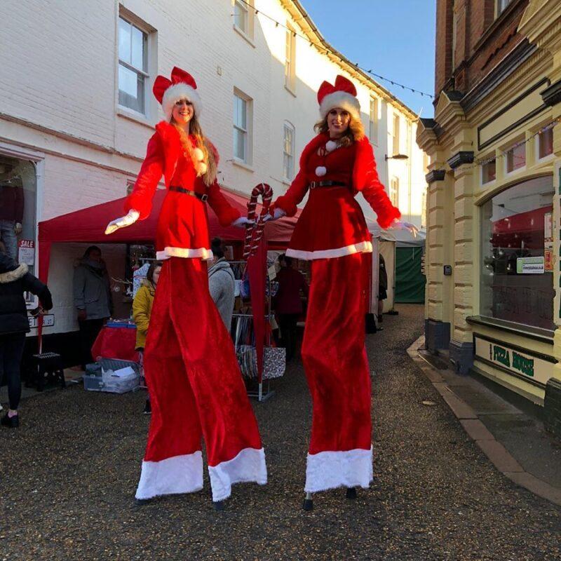 Christmas Stilt Walkers